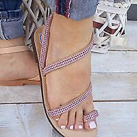 """NISOS"" Ancient hand made greek sandals summer flat  decorated with strass"