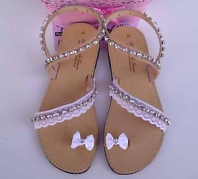 """NISOS"" Ancient hand made greek sandals summer flat  decorated"