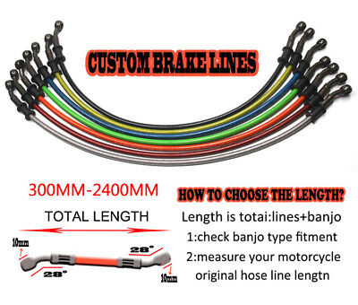 Universal Motorcycle Brake Clutch Oil Hose Line Pipe Tube Colorful 50-120cm
