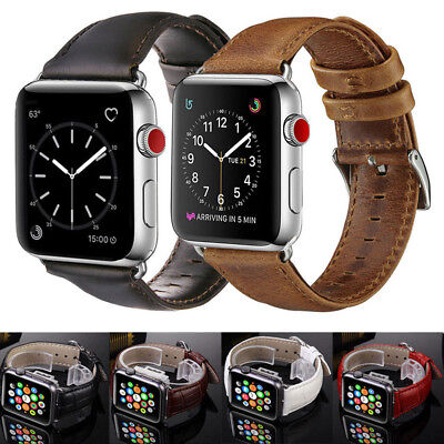 Retro Leather Wrist Watch Strap Band Belt for Apple Watch Series 1 2 3 4 38/44mm