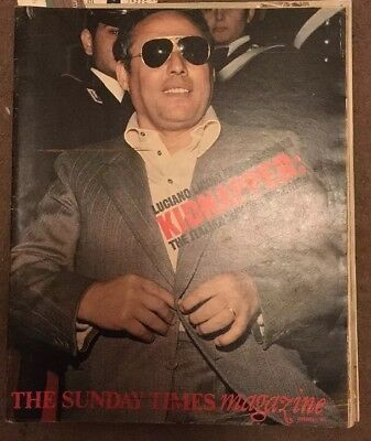 SUNDAY TIMES Magazine 1977 Scotland World Cup 1978, Kidnapping Italy