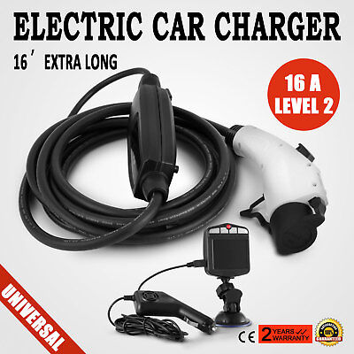 Electric Vehicle Charger EV Car Charging 110V 16A J1772 5-15 level1 Recorder