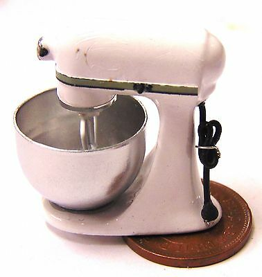 1:12 Scale Non Working White Food Mixer Kitchen Tumdee Dolls House Accessory
