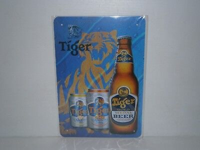 TBMS1 TIGER BEER Metal Sign New 30 cm H X 20 cm W
