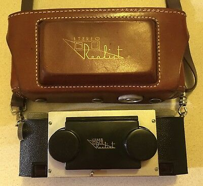 Rare Early Stereo Realist f3.5 3D Camera With Ilex Paragon Lenses & Leather Case