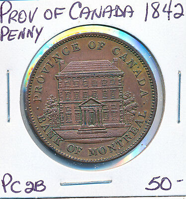 Province Of Canada One Penny 1842 Pc2B