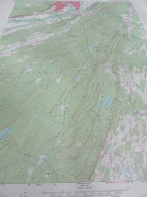 """22"""" X 27"""" New York State Topographical Map  Port Jervis South NJ NY PA 1969 M-14"""
