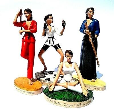 4 Lara Croft Tomb Raider Adventure Collectible Lot Sport 4 Figuren n 7 51 54 56