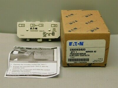 Eaton C320KGS20 Series A2 Freedom Series Auxiliary Contacts 1 N.O. Nema 3