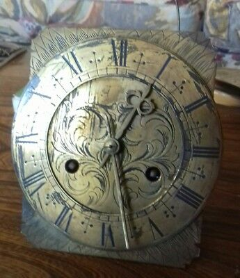 Antique brass lanton clock face movement