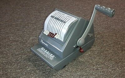 Paymaster 9000-10 Check Writer / Protector PRINTS IN DOLLARS AND MEXICAN PESOS