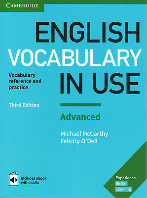 Cambridge ENGLISH VOCABULARY IN USE ADVANCED with Answers & Audio THIRD EDIT New