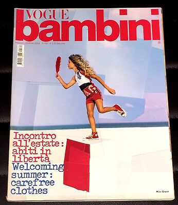 VOGUE BAMBINI Magazine Italia May 2004 Kids Children Enfant Fashion