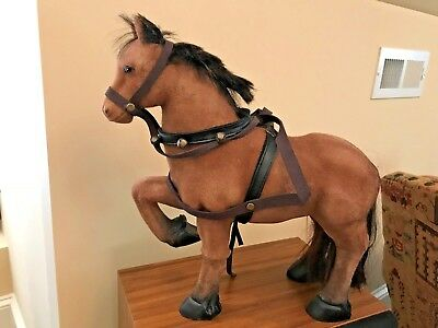 """Magnificent Antique Horse - Real Horse Hair - 15"""" Tall"""