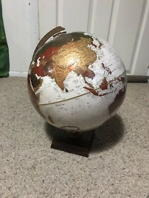 "Rare Vintage Replogle 12"" Globe World PlatInum Classic Series Wood Base Brown"