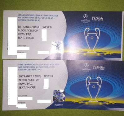 1-2 Champions League Final 2018 Tickets category 4, price for 1