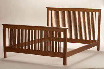 Mission Arts & Crafts Stickley style Queen Spindle Bed