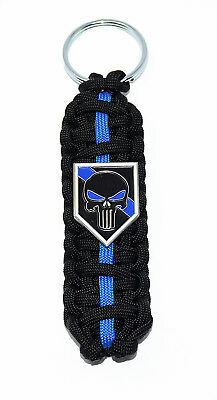 Thin Blue Line Police PUNISHER XL Limited Edition 550 Paracord Key Chain