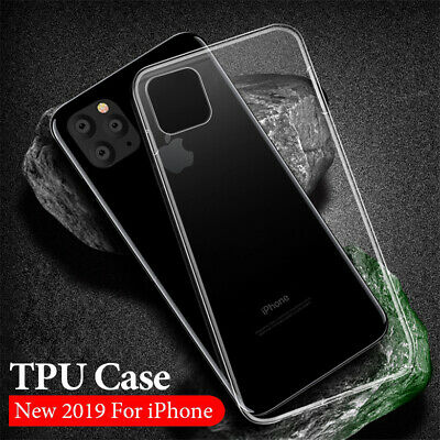 iPhone 6 8 7 Plus X Case Soft Silicone Clear Transparent Slim Gel TPU Rubber SG