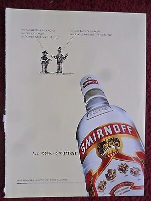 1999 Print Ad Smirnoff Vodka ~ Y2K Hangups SHADOW ART