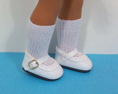 "LAVENDER Bow-Tie Doll Shoes For 14/"" American Girl Wellie Wisher Wishers Debs"