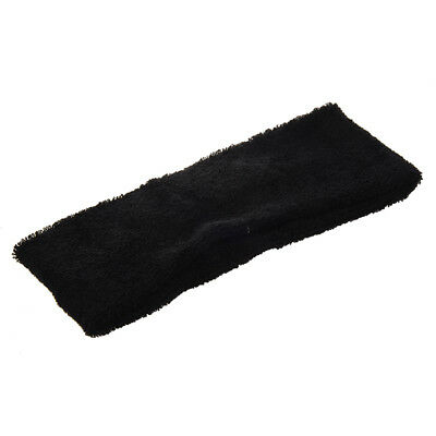 Adult Terrycloth Elastic Tennis Runner Head Band Sweatband Headband Black W4E7