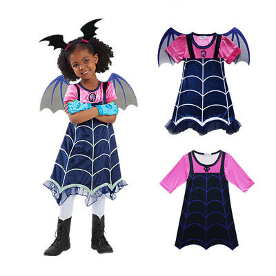 Kids Girls Vampirina Dress Fancy Dress Costume Cosplay Party Holiday Princess US