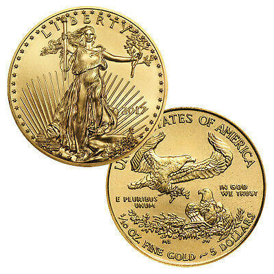 2017 $5 1/10 Ounce Gold American Eagle BU