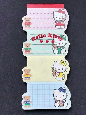 Vintage 1976 1992 Sanrio Hello Kitty Perforated Notepad 31 Sheets