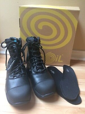Z Coil Mens Z-Force Workboot New Original Box Black Composite Toe Enclosed Coil