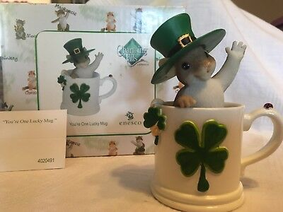 """Charming Tails """"YOU'RE ONE LUCKY MUG"""" DEAN GRIFF ST PATRICK'S"""