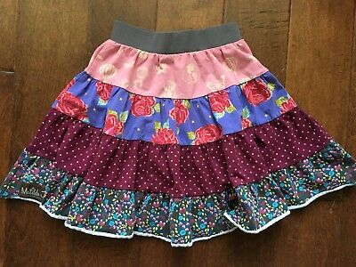 Matilda Jane Paint by Numbers size 4 Brushstroke Gentry 4 Tiered Skirt GUC