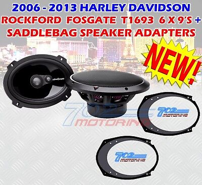 "For Harley Davidson 6X9 Rockford Fosgate T1693 + 5X7-6X9"" Speaker Adapt Touring"
