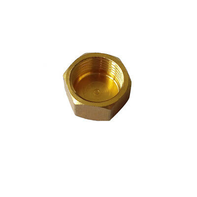 """1/2"""" BSPP Hex Head Female Cap Fitting Connector  Brsss Pipe Fitting"""