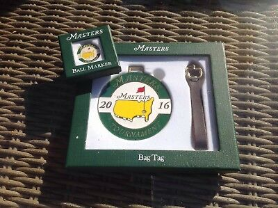 Brand New Augusta Masters 2016 Bag Tag & Ball Marker