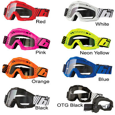 Blur B-Zero Motocross Motorbike MX Riding Goggles ADULT 8 Assorted Color Choices