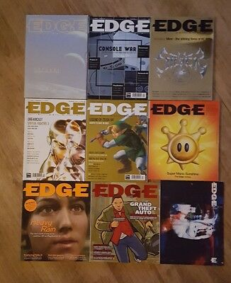 8 issues of Edge Magazine. Includes Zelda Ocarina of Time review