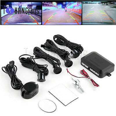 Black Car Reverse Alarm Buzzer Radar System Kits with 4 SensorATF