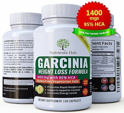 Garcinia Cambogia 95% HCA 1400mg 60 FAST Carcinia WEIGHT LOSS, PURE | FAST SHIP!