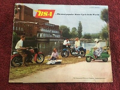 BSA original factory 1960/1 range brochure A10 to D1 bantam