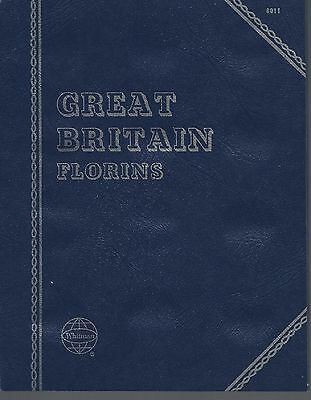 Great Britain Florins Blank Storage Holds 36 Coins Whitman Folder NOS