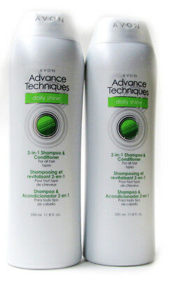 Avon Advance Techniques DAILY SHINE Lot of 2- 11.8 oz  ORDER BY 10 AM !!!