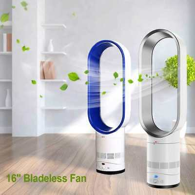 """Bladeless Fan 16"""" With Remote Control AirFlow Cooling Fan Low db Home Office VG"""