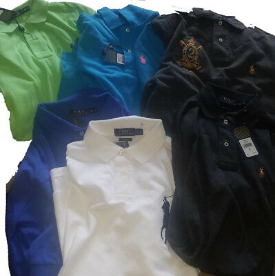 POLO RALPH LAUREN Mens Assorted POLO SHIRTS NEW With Tags XS S M L XL 2XXL