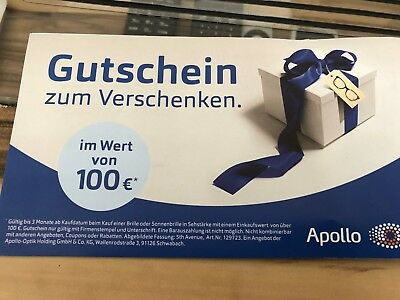 100 €  Apollo Optik Gutschein