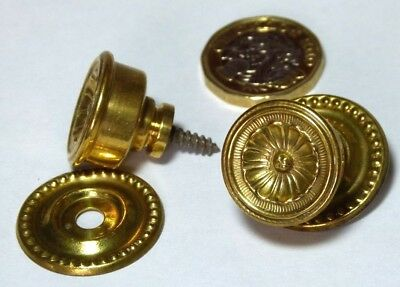 Set X 6 Vintage/antique Chest/drawer/door Brass Pull Knob Handle Regency Style