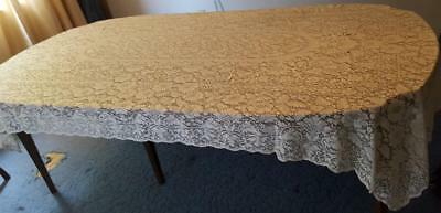 Beautiful Vintage All Lace Tablecloth - Rectangular - Large Size - GORGEOUS VGC