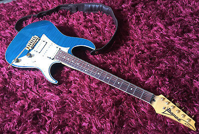 IBANEZ RT-650 TB (Transparent Blue) Customized with Gold Hardwareand  Tremol-No