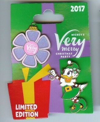 Daisy Duck Mickey's Very Merry Christmas Party 2 Pin Set LE Disney Parks 2017