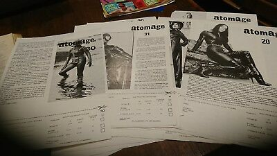 Vintage Atomage magazine order forms collection including no 1